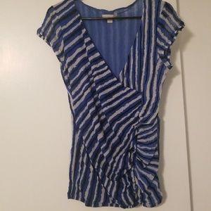 Blue/White/Black Shirt